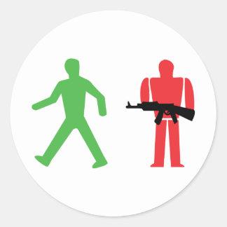 traffic light war stickers