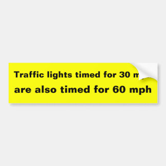 Traffic Lights Car Bumper Sticker