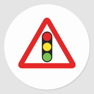 Traffic Lights Classic Round Sticker