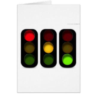 Traffic Lights Design Greeting Card