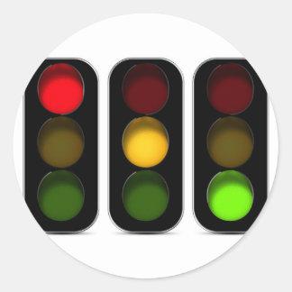 Traffic Lights Design Round Sticker