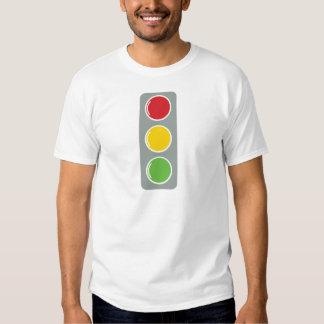Traffic lights red green amber t-shirts