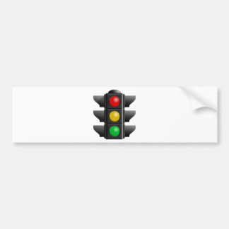TRAFFIC LIGHTS RED YELLOW GREEN SIGNS DIRECTION BUMPER STICKER