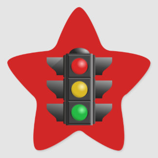 TRAFFIC LIGHTS RED YELLOW GREEN SIGNS DIRECTION STICKER