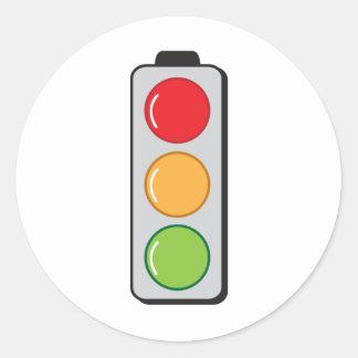 traffic lights round sticker