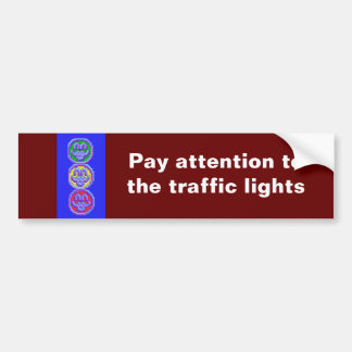Traffic lights sticker bumper sticker