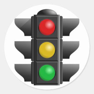Traffic Lights Stickers Round Sticker