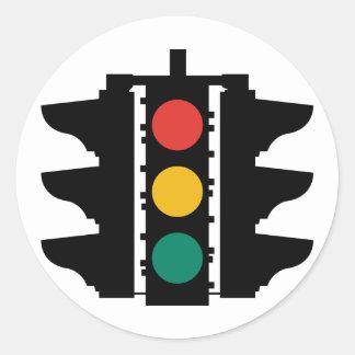 Traffic Lights Street Sign Round Sticker