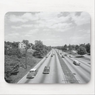 Traffic on highway mouse mat