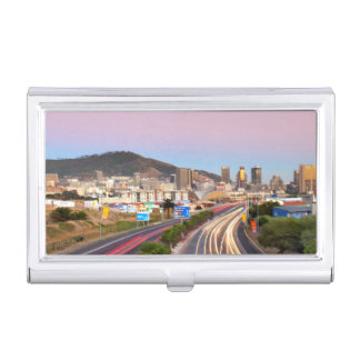 Traffic On Motorway To Cape Town, Western Cape Business Card Holder
