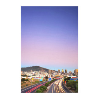 Traffic On Motorway To Cape Town, Western Cape Canvas Print