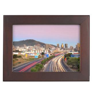 Traffic On Motorway To Cape Town, Western Cape Keepsake Box