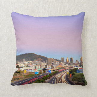 Traffic On Motorway To Cape Town, Western Cape Throw Pillow