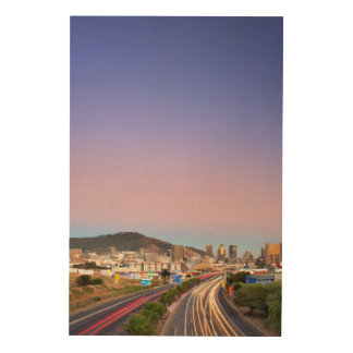 Traffic On Motorway To Cape Town, Western Cape Wood Wall Art