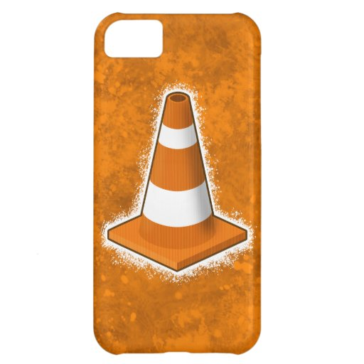 Traffic Safety Cone Splatter Case For iPhone 5C