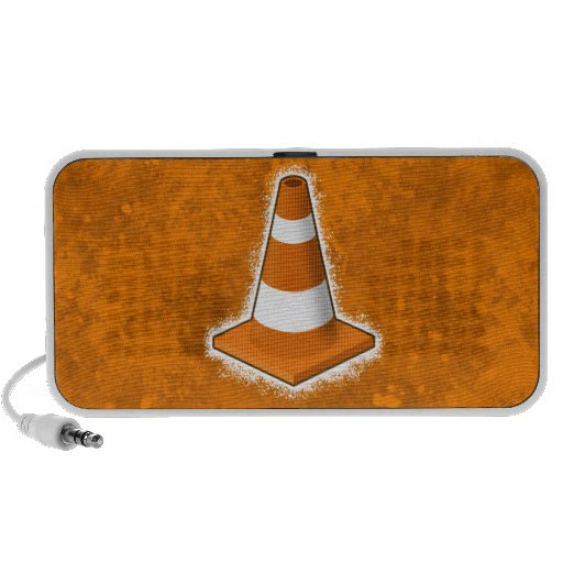 Traffic Safety Cone Splatter iPhone Speakers