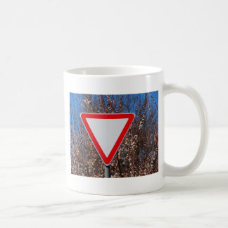 Traffic sign coffee mug