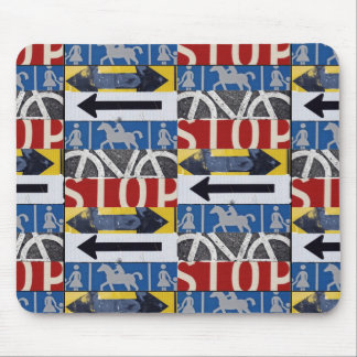 Traffic signs mouse mat