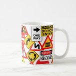 Traffic signs mug - choose style & color