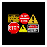 Traffic signs poster - customize!