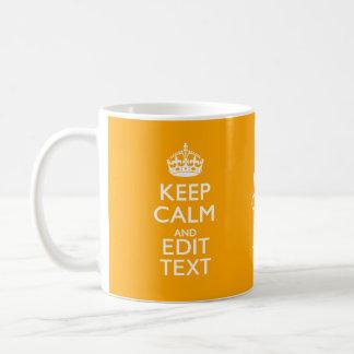 Traffic Yellow Decor Keep Calm And Your Text Coffee Mug