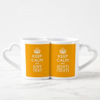Traffic Yellow Decor Keep Calm And Your Text Lovers Mug