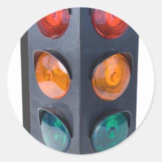 TrafficLight050915 Round Sticker