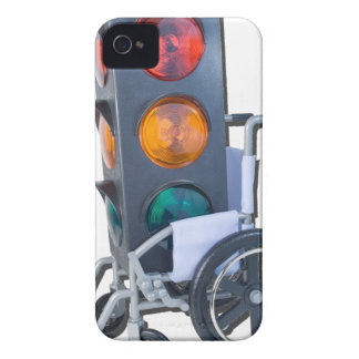 TrafficLightWheelchair052215 iPhone 4 Cases