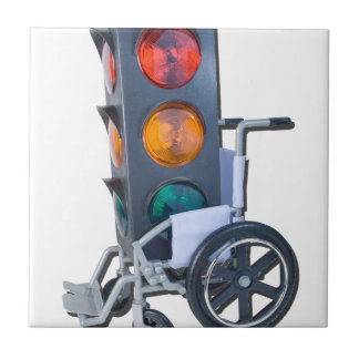 TrafficLightWheelchair052215 Small Square Tile
