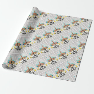 TRAFFORD, MANCHESTER WRAPPING PAPER