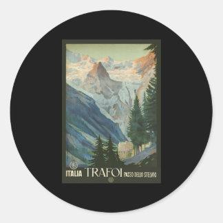 Trafoi Passo dello Stelvio Round Sticker