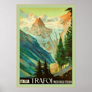 Trafoi~Passo dello Stelvio~Vintage Travel Poster