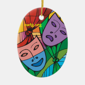 Tragedy and Comedy Theatre Symbol Ornament