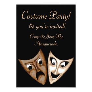 Tragedy & Comedy 13 Cm X 18 Cm Invitation Card