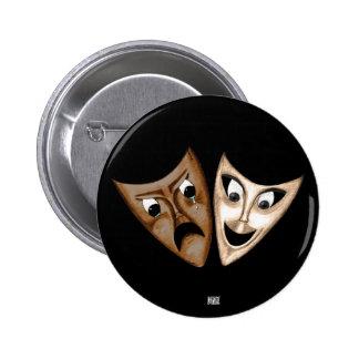 Tragedy & Comedy 6 Cm Round Badge