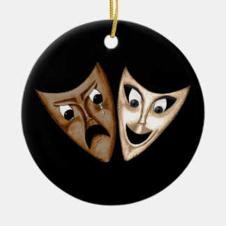 Tragedy & Comedy Christmas Ornament