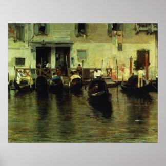 Traghetto della Maddalena 1887 Print