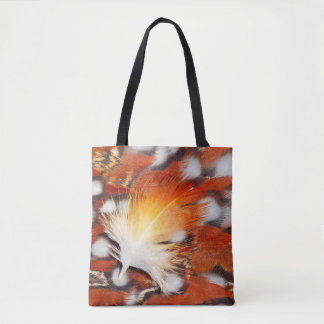 Tragopan Feather Still Life Tote Bag