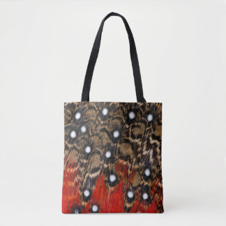 Tragopan Feathers Abstract Tote Bag