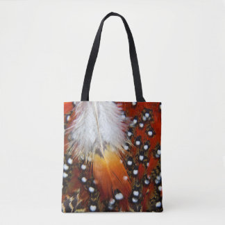 Tragopan Feathers Still Life Tote Bag