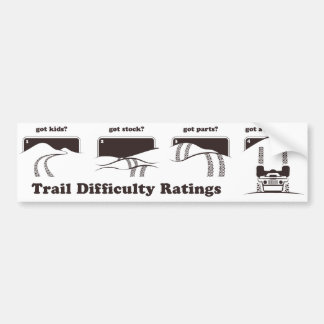 Trail Difficulty Ratings Sticker Bumper Sticker