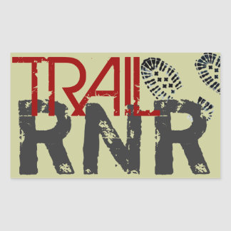 TRAIL RNR RECTANGULAR STICKER