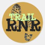 TRAIL RNR ROUND STICKER