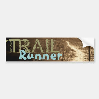 TRAIL, Runner Bumper Sticker