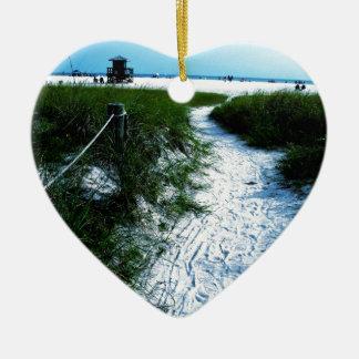Trail To The Sea Ceramic Heart Decoration