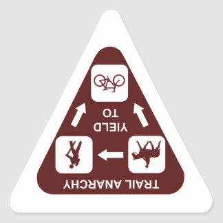 Trail Yield Sign Triangle Sticker