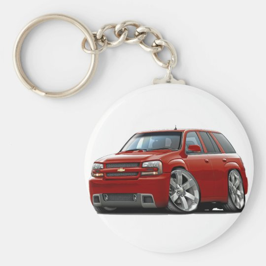 Trailblazer Red Truck Basic Round Button Key Ring