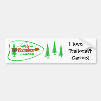 Trailcraft Canoe Bumper Sticker