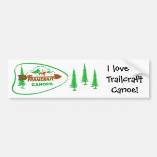 Trailcraft Canoe Bumper Sticker Car Bumper Sticker