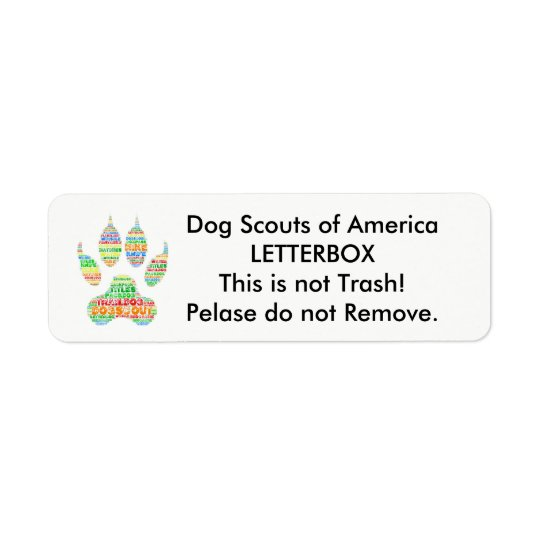 TrailDog Letterbox Label Return Address Label